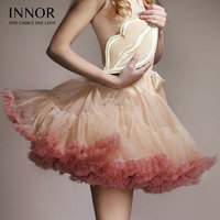 innor Sexy Micro Skater Mini Skirts Tulle Skirt Party Dance Tutu Skirt Women Lolita Petticoat Womens Faldas Saia jupe courte