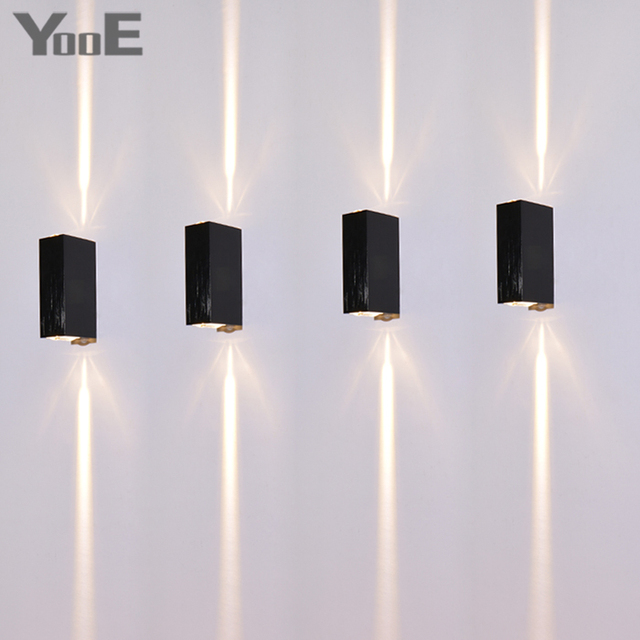 Yooe Indoor Outdoor Led Wall Lamp 2w Bedroom Water Proof Sconce Rays Lighting