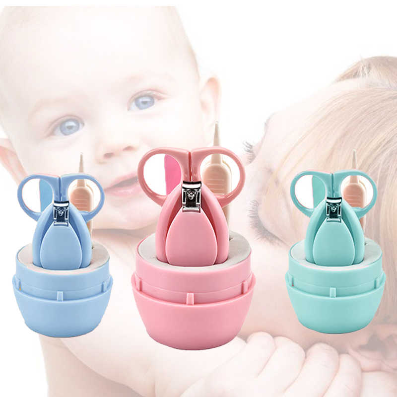 เด็กทารกแรกเกิดเด็กทารก Care เล็บเครื่องตัด Trimmer ทารก 4PCS เล็บ Clipper กรรไกรเด็กทารกแรกเกิด