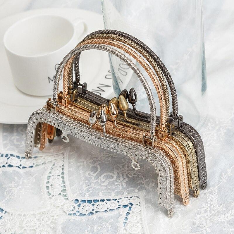 BDTHOOO 10 stks 16.5 cm Metalen Frames Kus Sluiting Lock voor DIY Maken Handtas Handvat handbediende Sluitingen tas Accessoires 4 Kleur-in Tas onderdelen & Accessoires van Bagage & Tassen op  Groep 1