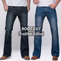 Jeans para hombre tradición boot cut pierna fit flare jeans famosa marca de deep blue jeans masculinos pantalones