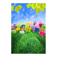 Thin fabric computer Printed photography background Easter eggs blossoms photo backdrop for Studio 5X7ft GE-068 стоимость