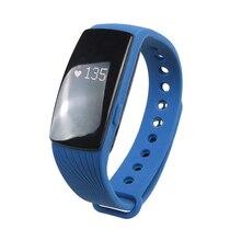 Bluetooth Smart наручные часы телефон браслет сердечного ритма Мониторы Фитнес Tracker синий