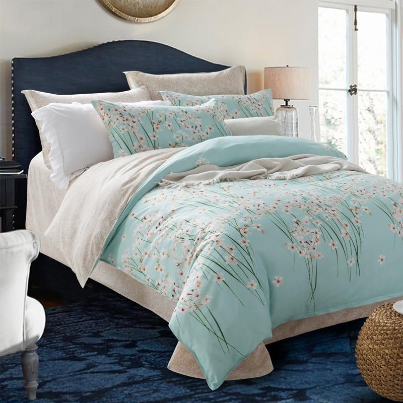 Stock Clearance Cotton Bedlinen (1*Blanket Cover+1*flat Sheet+2*Pillowcase)