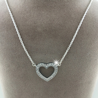 New 100 925 Sterling Silver Pendant Charms Necklaces Fashion Silver Jewelry Heart Pendants Necklace For Women