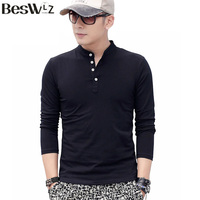 Beswlz New Arrival Autumn Winter Fashion Casual Style Men S T Shirt Cotton Solid Long Sleeve