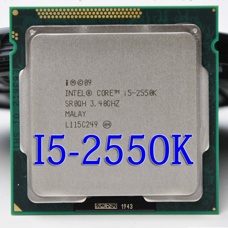 lntel i5 2550K Quad Core 3.4GHz Socket LGA 1155 6MB Cache TDP 95W Processor-in CPUs from Computer & Office    1