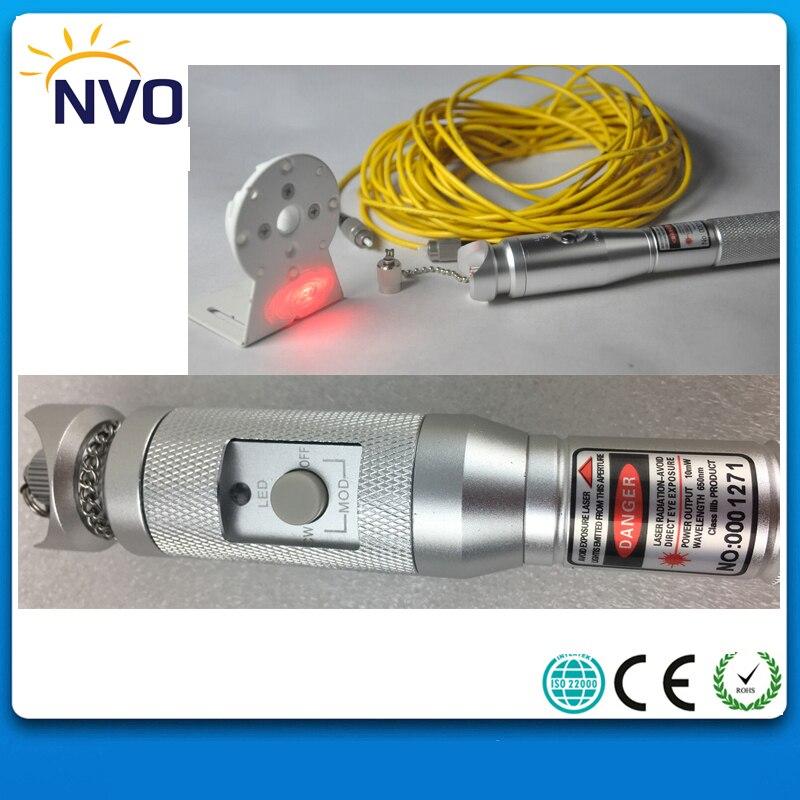 20 mw, 20 km, style Pen Localisateur Visuel de défauts/visible laser source/Metal Visuel Localisateur de défaut De Fiber Optique Câble Test Produit Laser
