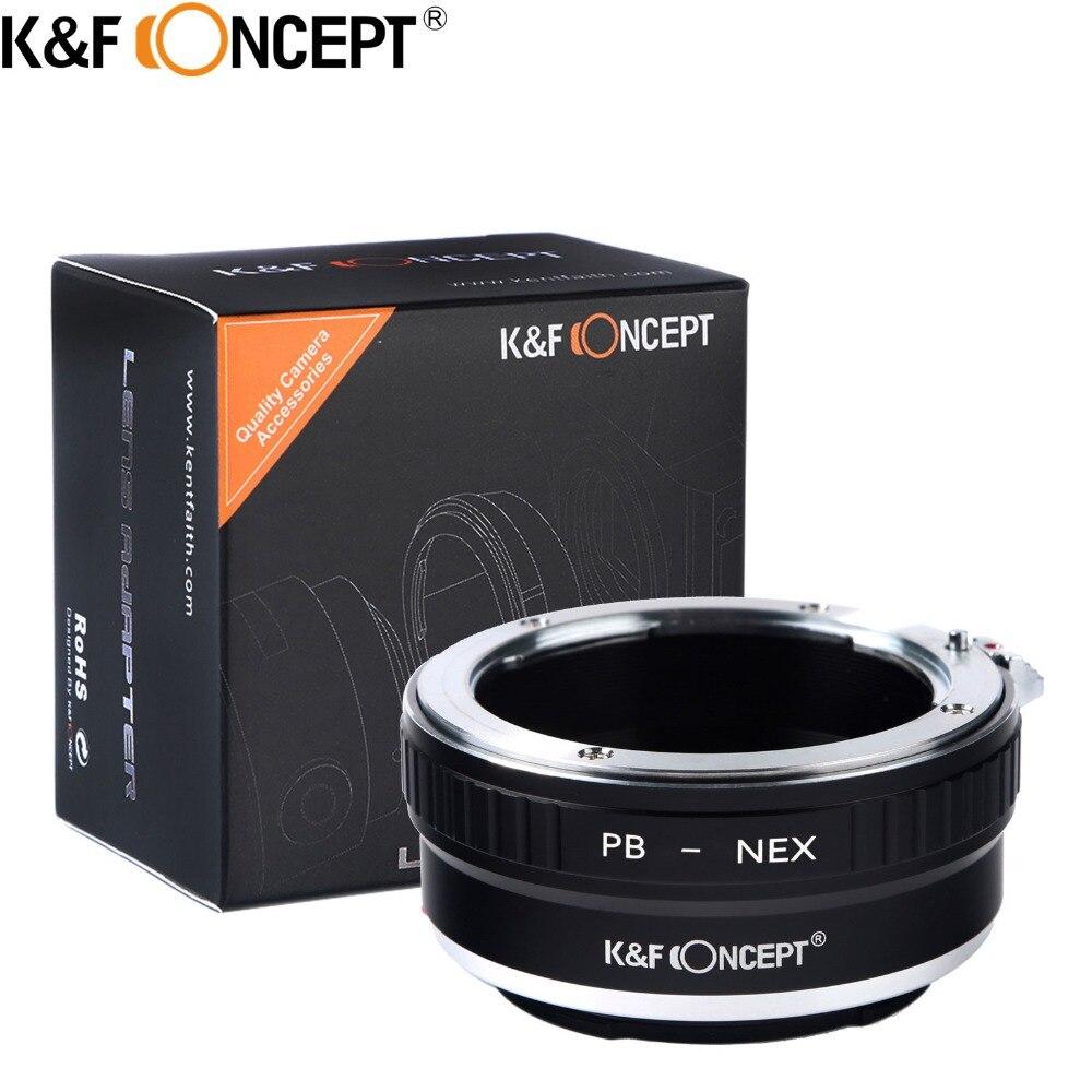 KF CONCEPT Praktica-NEX anillo adaptador de lente de cámara para Praktica PB montura lente a Sony NEX montura cuerpo de cámara