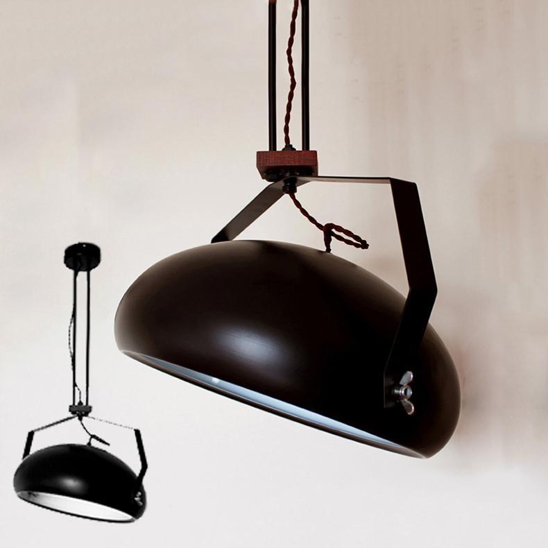 LOFT style Pendant Light D38cm. Indoor simple and beautiful suspension lamp back to Industrial revolution times iron droplightLOFT style Pendant Light D38cm. Indoor simple and beautiful suspension lamp back to Industrial revolution times iron droplight
