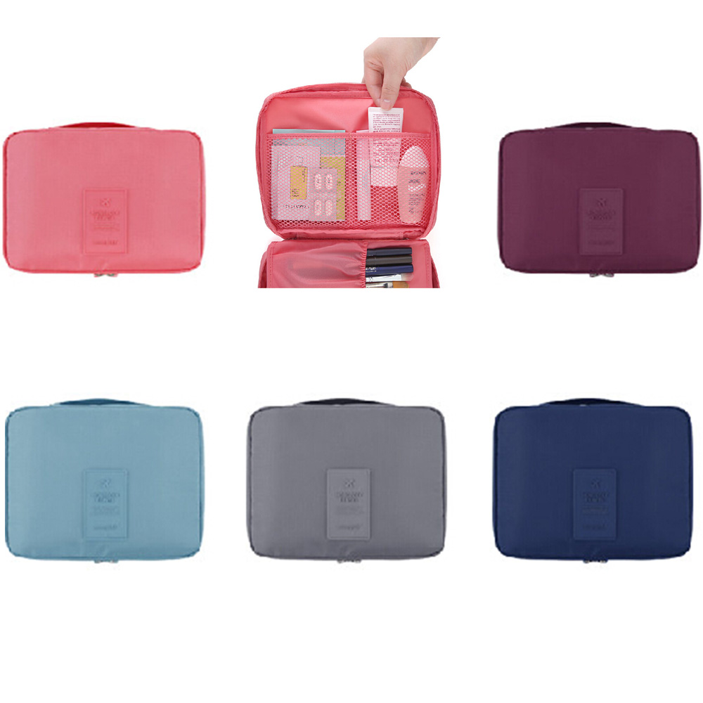 Portable Toiletry Cosmetic Bag Waterproof Makeup Make Up bag Wash Organizer bag Zipper Storage Pouch Travel Kit Handbag hand bag xiaomi travel toiletry wash bag waterproof cosmetics storage organizer