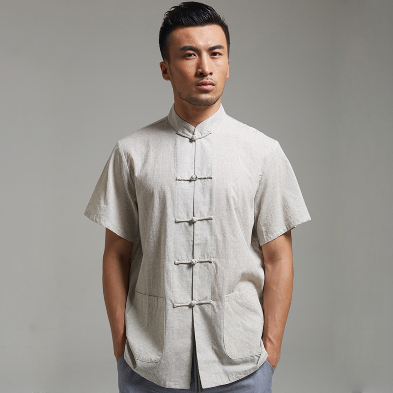 Высокое качество 100% хлопок кунг-фу рубашки с длинным рукавом тай-чи боевых искусств футболка тан вершины Большой размер 4XL