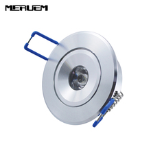 Free shipping 3W LED Recessed Downlight Cabinet Lamp silver shell 85-265v  down light , White Red Green Blue Yellow  color