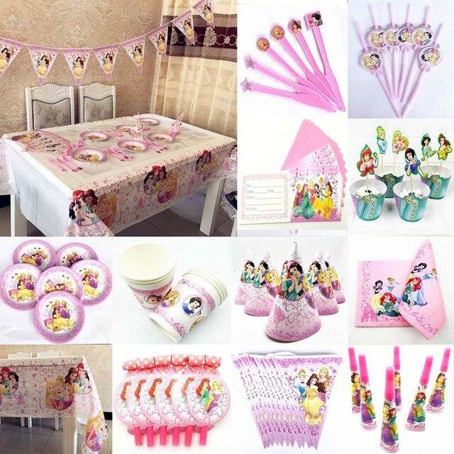 Princess Ariel Belle Cinderella Birthday Party Supplies Disposable
