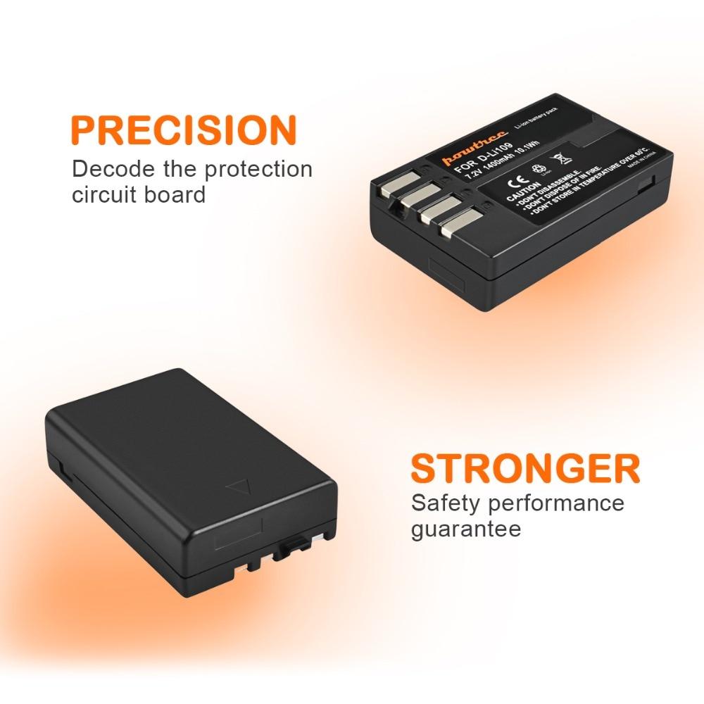 4pcs 7 2V 1400mAh Li ion akku DLI109 D LI109 D LI109 Camera Battery For PENTAX K R K 2 KR K2 KR K30 K50 K 30 K 50 K500 K 500 L10 in Digital Batteries from Consumer Electronics