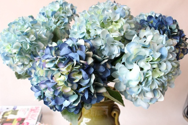 Noble artificial hydrangea silk flowerwedding party christmas home noble artificial hydrangea silk flowerwedding party christmas home decoration faux flowers arrangement 10pcs mightylinksfo