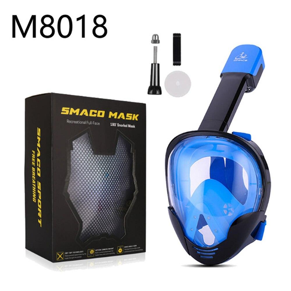Masque de plongée masque de plongée sous-marine Anti-buée masque de plongée complet masque de natation tuba équipement de plongée Compatible GoPro