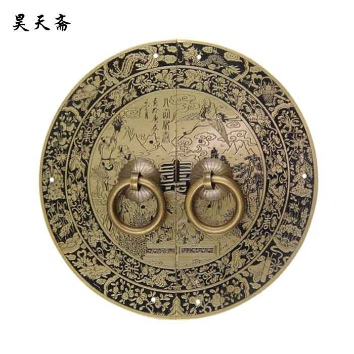 [Haotian vegetarian] bronze classical Chinese antique copper door handle copper handle Gods hi-life models chinese folk classical bronze desert twin peaks camel llama statue