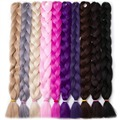 Synthetic Braiding Hair 82 inch 165g/pcs pure color Braid Bulk African Hair style Crochet Hair extensions,VERVES yaki texture