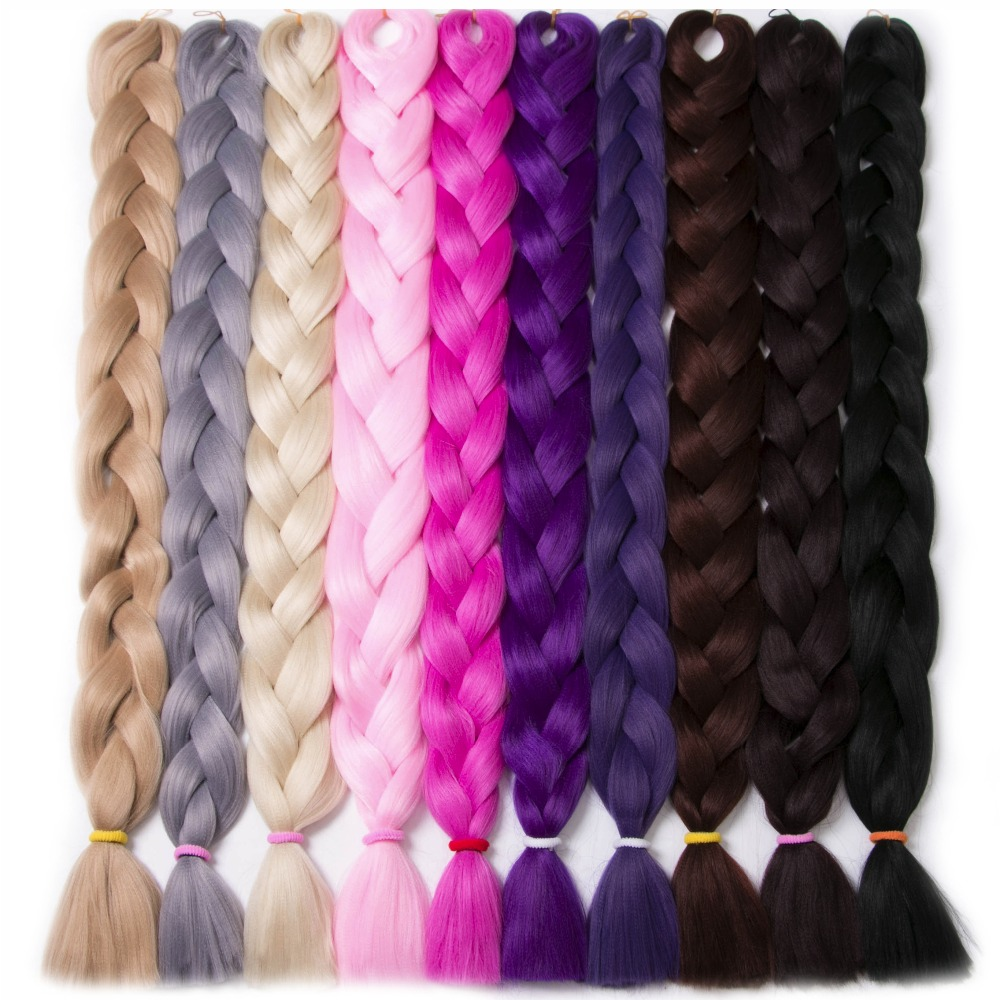 Synthetic Braiding Hair 82 inch 165g/pcs pure color Braid Bulk African Hair style Crochet Hair extensions,VERVES yaki texture ...