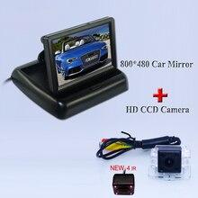 """Высококачественный набор парковка камеры 170 Угол ИК-свет + 4.3 """"складной монитор автомобиля для автомобиля reversign для Mitsubishi outlander"""