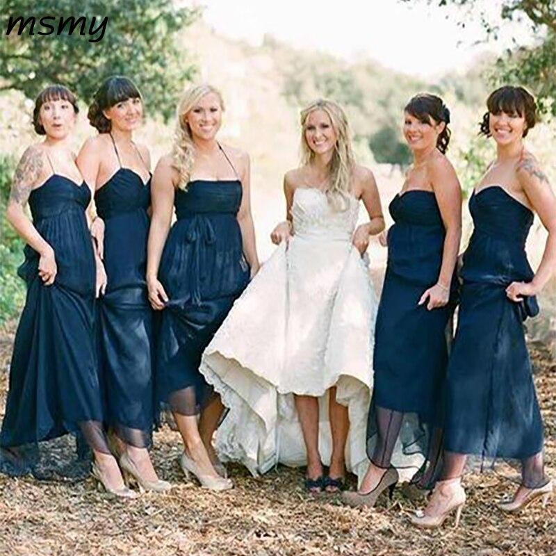 2019 Elegant A-Line Lace   Bridesmaid     Dresses   Pleat Sleeveless Cheap Long   Bridesmaid     Dresses   Custom Made