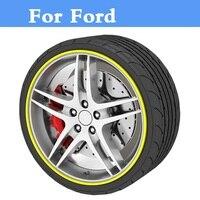 8M Car Rim Wheel Hub Protector Sticker Cover Decal For Ford Crown Victoria EcoSport Edge Escape
