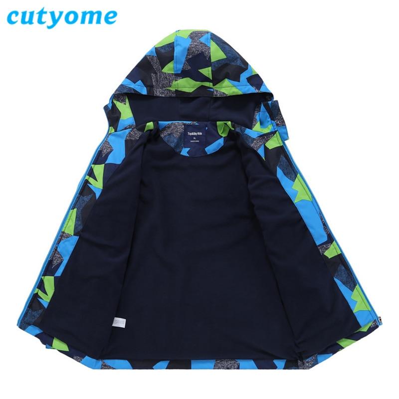 a5258cd28427 Cutyome 2018 Winter Softshell Jackets For Boys Polar Fleece Hoodie ...