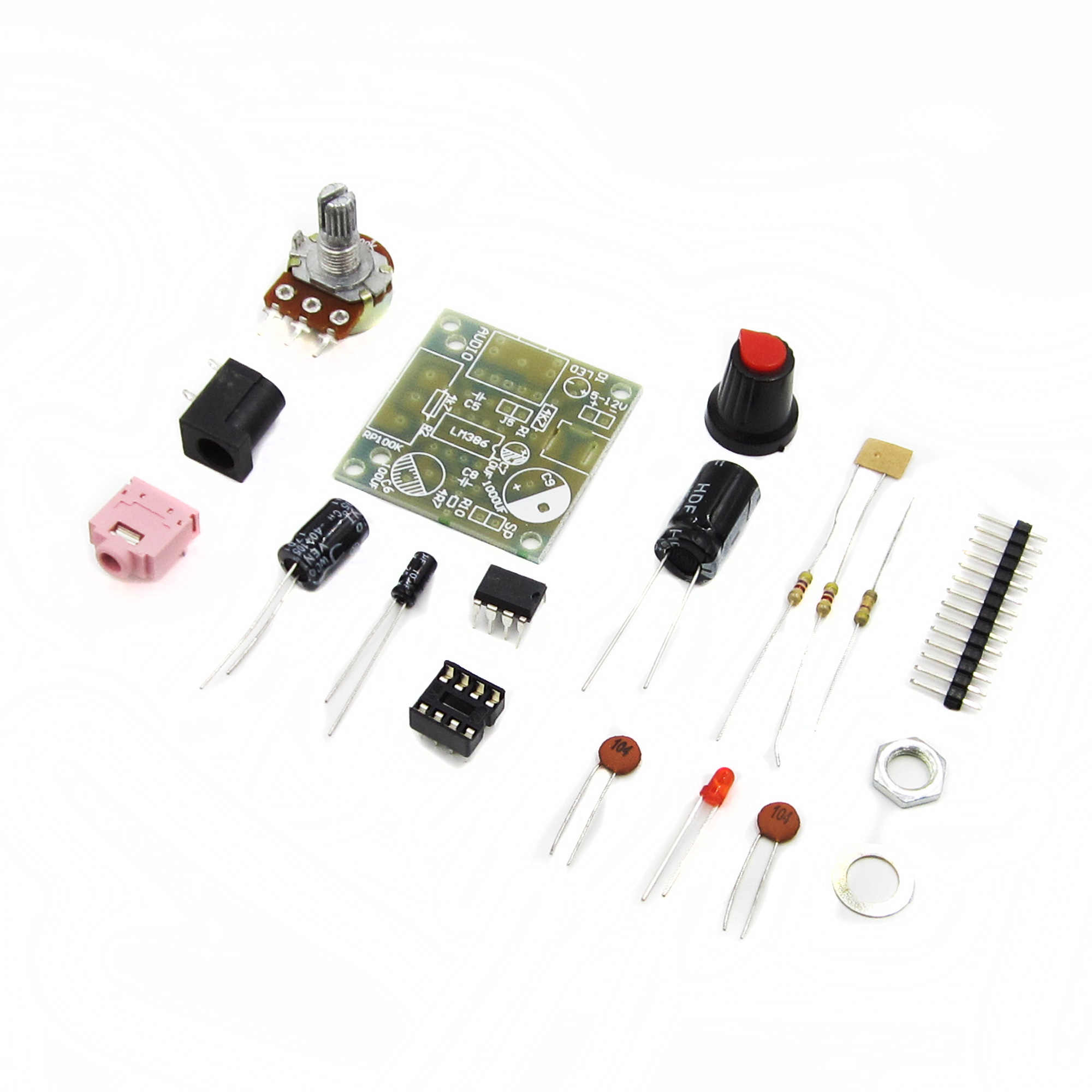 Detail Feedback Questions About Lm386 Mini Amplifier Board Diy Kit Power Circuit With Ic Schematic Diagram Super 3v 12v High Quality