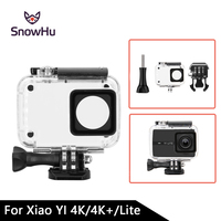 SnowHu Diving 45m Waterproof Case For Xiaoyi YI Sports Camera II 2 Case Xiaomi YI 4K