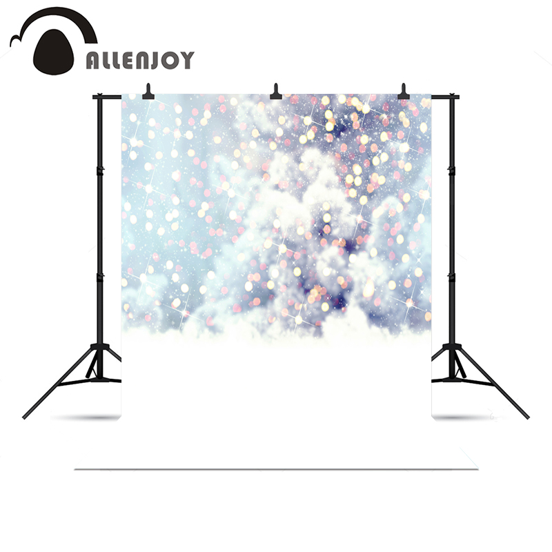 Allenjoy photo backdrop light spot fond snow glitter sparkle gold professional 10x10ft Vinyl background pictures