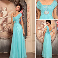 2017 Freeshipping Chiffon Beading Vestidos de Festa Vestido De Festa 360750 vestido de Noite Vestido Formal Fêmea Projeto Longo Jantar Show