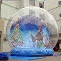 Frete grátis Grande árvore de natal globo de neve inflável gigante/Anunciar Show de Bola Inflável de Encerado Do PVC