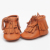 Con cordones de cuero genuino sólido double borla botas mocasines moccs bebé zapatos del niño del bebé zapatos suaves frings mejor navidad regalo