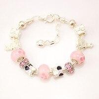 MPB Wiola Charm Bracelet With Flower Pendant Charm Gold Murano Glass Beads Friendship Bracelet DIY Jewelry