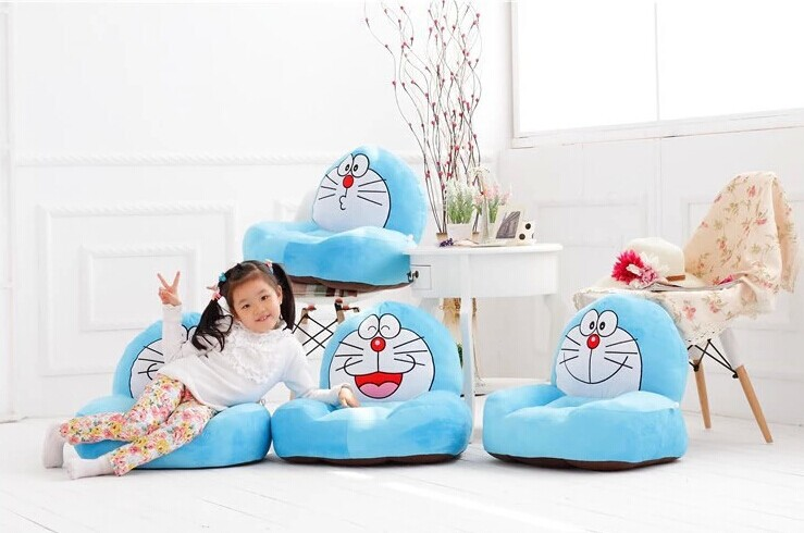 lovely plush doraemon sofa toy creative blue cartoon doraemon sofa doll gift about 54x30x10cm 0275