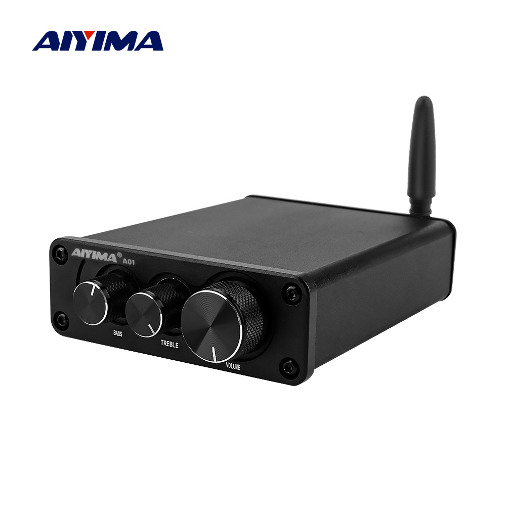 AIYIMA Mini TPA3116 Bluetooth 5.0 Power Amplifier HiFi Sound Amplificador Stereo Home Audio Amp With Treble Bass