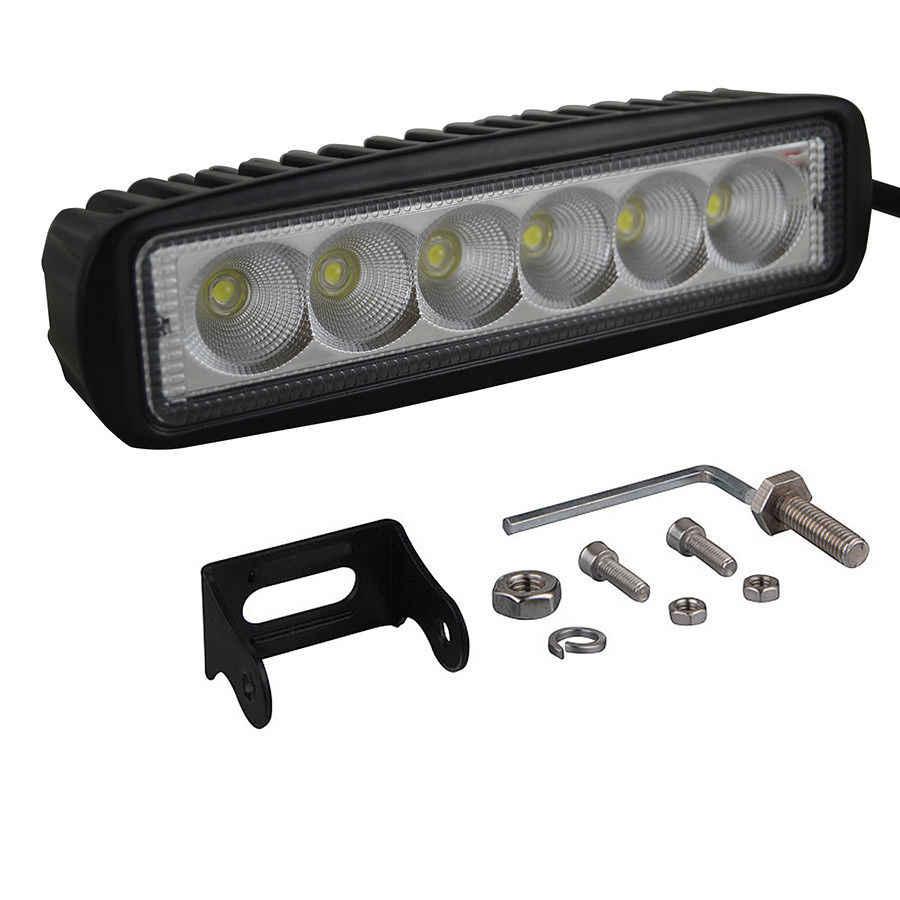 IP67 18 W LED قضيب مصابيح عملي بقعة ضوء مصابيح الكشافات القيادة الضباب الطرق الوعرة LED العمل سيارة مصباح للسيارة الجيب SUV 4WD led الحزم 12 V 24 V