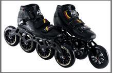 ¡ Caliente! zapatos Profesionales de patinaje de Velocidad patines en linea De Fibra de Vidrio de Alta Resistencia Velocidad Zapatos de Patinaje en línea línea hecha a mano