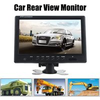 9 Inch TFT LCD Split Screen Quad Monitor Car Headrest Rear View Monitor With 4 RCA