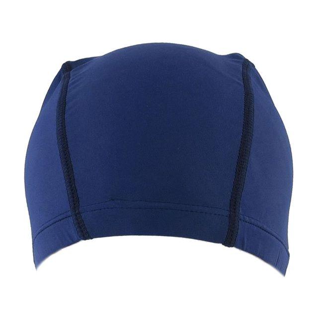 d6f49f70bec Polyester Men Women Sporty Flexible Cloth Swimming Cap Swim Hat Blue ...