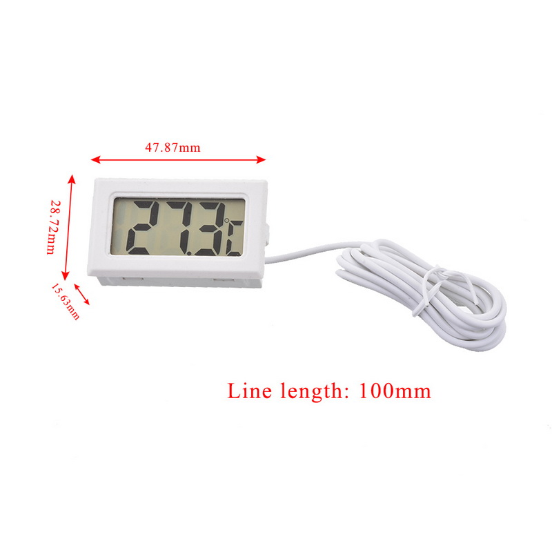 Junejour 1Pcs LCD Digital Thermometer Waterproof Aquarium Thermometer 2 Seconds Digital Sensor Weather Station Junejour 1Pcs LCD Digital Thermometer Waterproof  Aquarium Thermometer 2 Seconds  Digital Sensor Weather Station