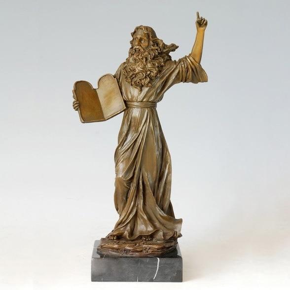 Cire perdue coulée Bronze Statue Galilei sculpture oeuvre en laiton cuivre décoration de la maison