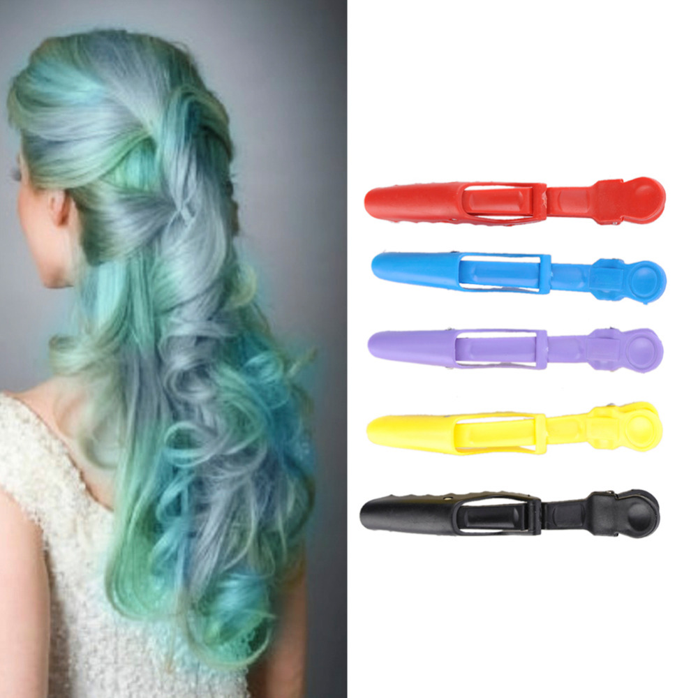 5 Pcs/Pack Colorful Sectioning Clips Clamps Hairdressing ...