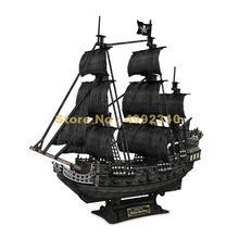 308 шт парусный корабль Карибы Пираты Модель 3d бумажная головоломка игрушка