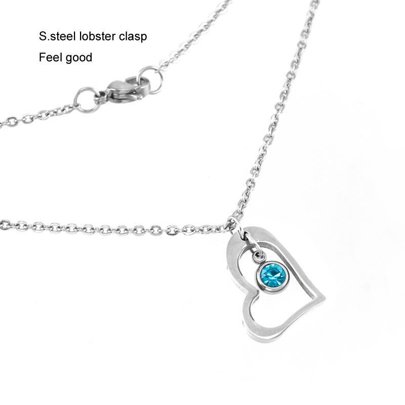 Risul-Female-Jewelry-birth-stone-in-Heart-Charm-Necklace-Rolo-chain-Stainless-steel-best-friend-beautiful (3)