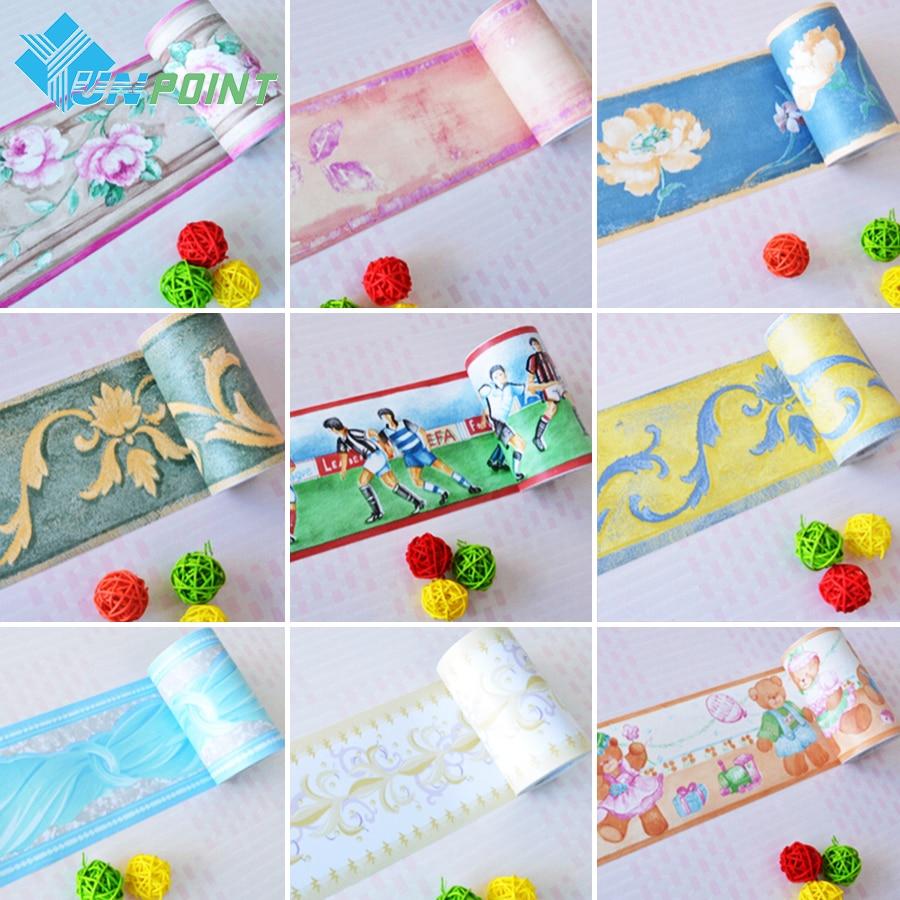 Bathroom Waterproof Waistline Wall Stickers Room Kids Decor Murals Self  Adhesive Wall Paper Borders Pvc Stickers