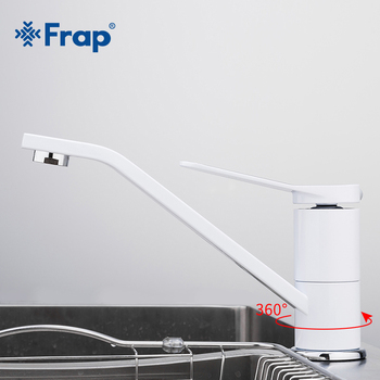 FRAP Simple Single Handle Basin Faucet White Painting Long Mouth Mixer Torneira Hot And Cold Tap Deck Mounted Household F4945 - discount item  43% OFF Bathroom Fixture