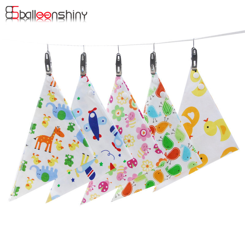 BalleenShiny 3pcs/lot Baby bibs High quality Triangl Double Layers Cotton Baberos Cartoon Character Baby Bandana Dribble Bibs ...