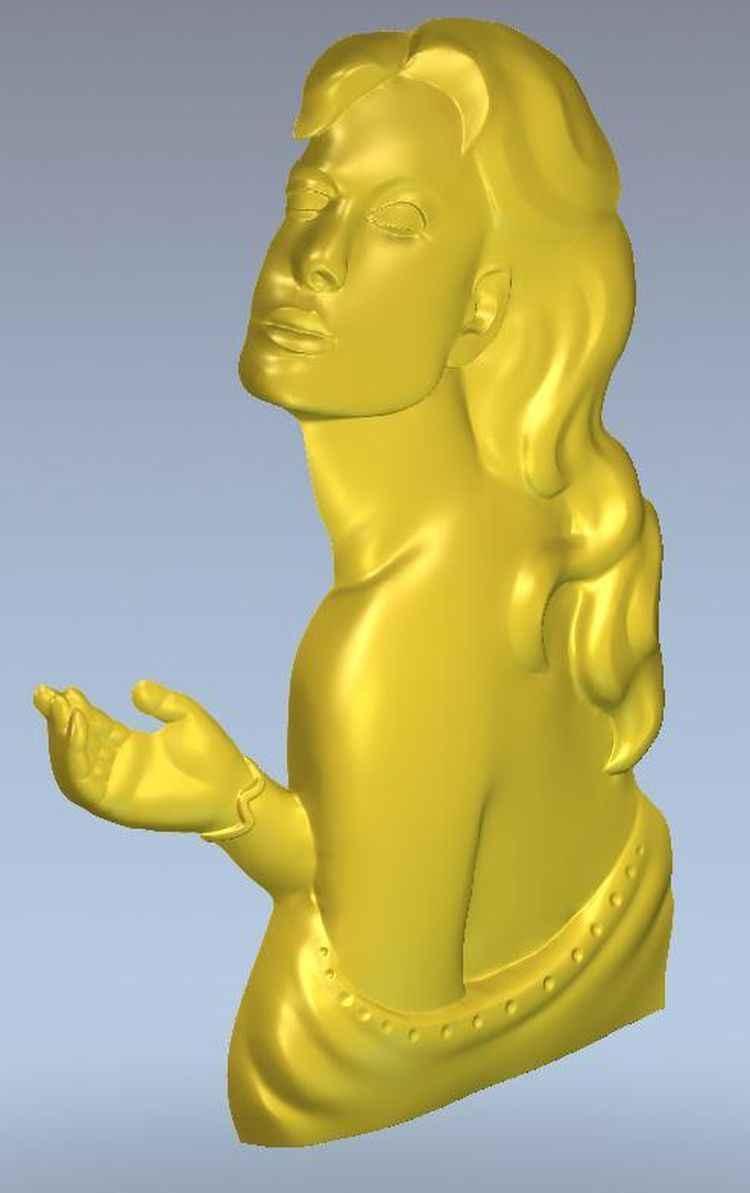 มิติแบบจำลองสำหรับการบรรเทาซีเอ็นซีในรูปแบบไฟล์stlที่ยอดเยี่ยมผู้หญิง